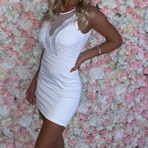 White LuLus bodycon dress